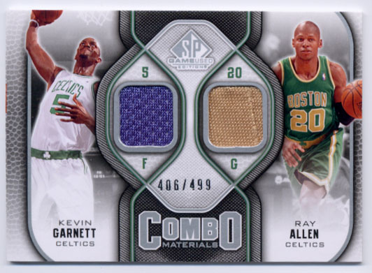 2009-10 SP Game Used Combo Materials #CMAG Kevin Garnett/Ray Allen