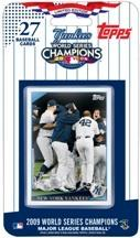 2009 Topps New York Yankees Team World Series Champions Factory Sealed 27 Card Set Includes Derek Jeter Alex Rodriguez Hideki Matsui Mariano Rivera & 17 Other Players & 6 Highlight Cards - In Stock