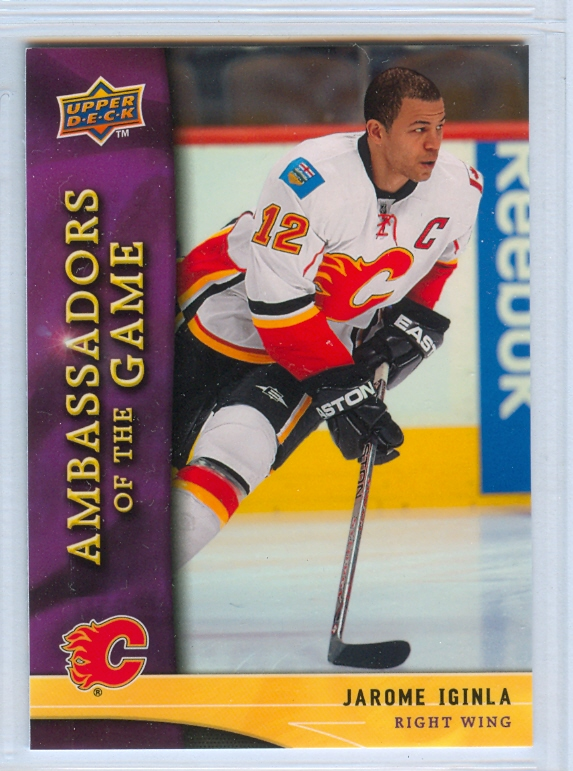 2009-10 Upper Deck Ambassadors of the Game #AG24 Jarome Iginla SP