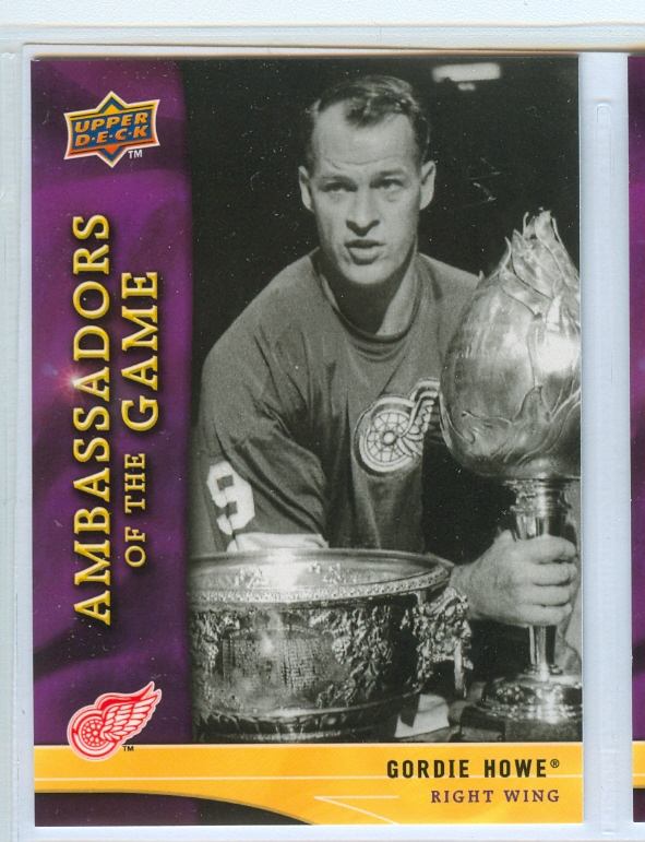 2009-10 Upper Deck Ambassadors of the Game #AG28 Gordie Howe SP