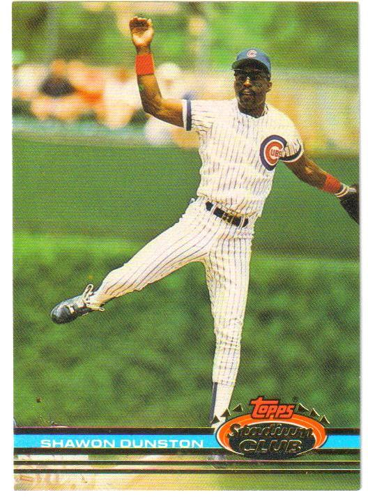 1991 Stadium Club Pre-Production #12 Shawon Dunston