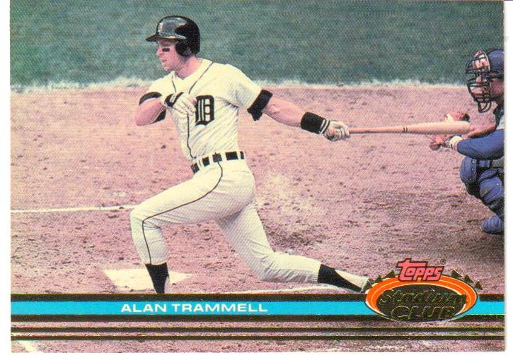 1991 Stadium Club Pre-Production #44 Alan Trammell