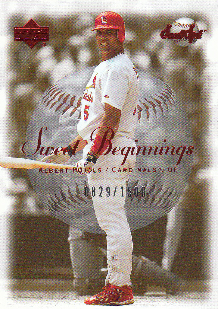2001 Sweet Spot #121 Albert Pujols SB RC