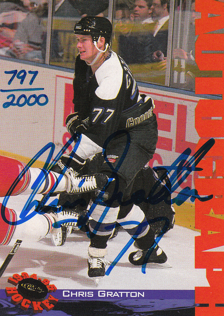 1994 Classic Autographs #NNO Chris Gratton/2000