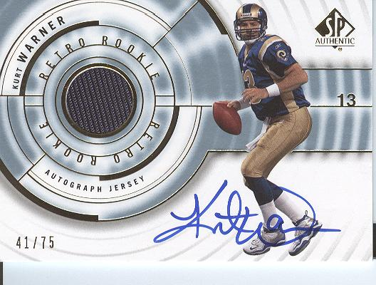 2008 SP Authentic Retro Rookie Jerseys Autographs #RRKU Kurt Warner