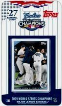 Yankees 2009 World Series Champions Topps 27 Card Limited Edition Set