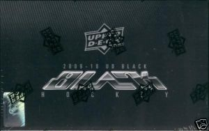 2009 - 10 ( 2010 ) Upper Deck UD Black Hockey Factory Sealed Hobby Box With A Total Of 4 Autographs, Memorabilia Letterman Patch Cards Per Box