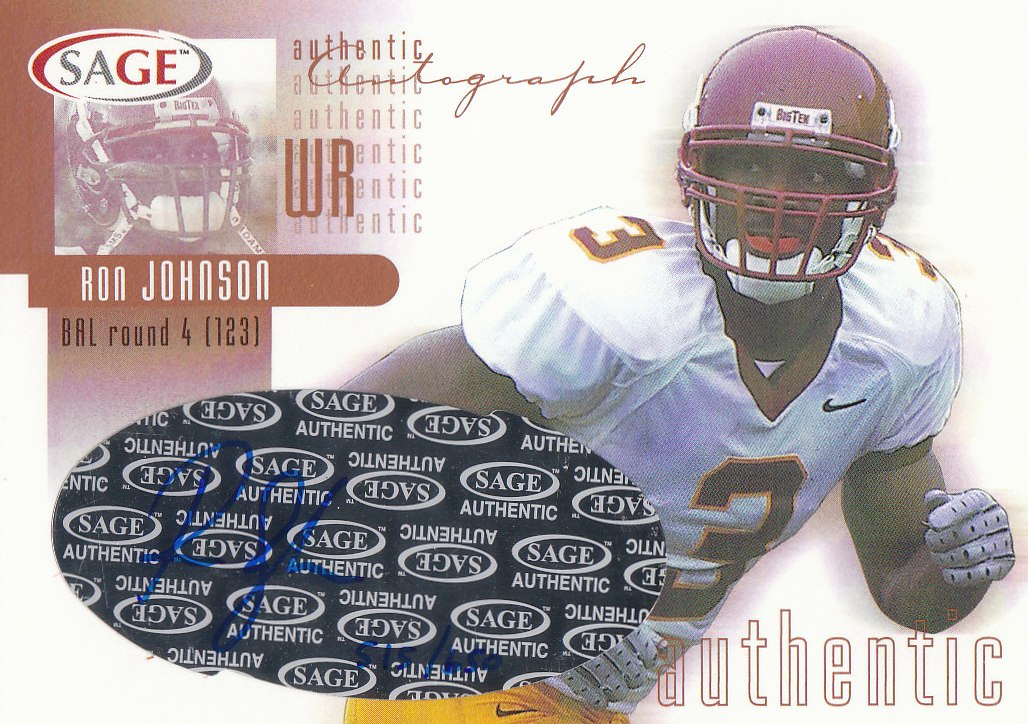 2002 SAGE Autographs Bronze #A24 Ron Johnson/650