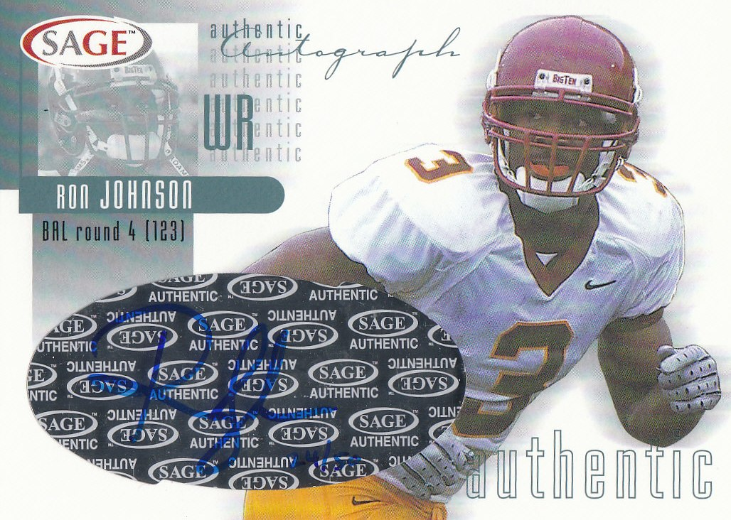 2002 SAGE Autographs Platinum #A24 Ron Johnson/50