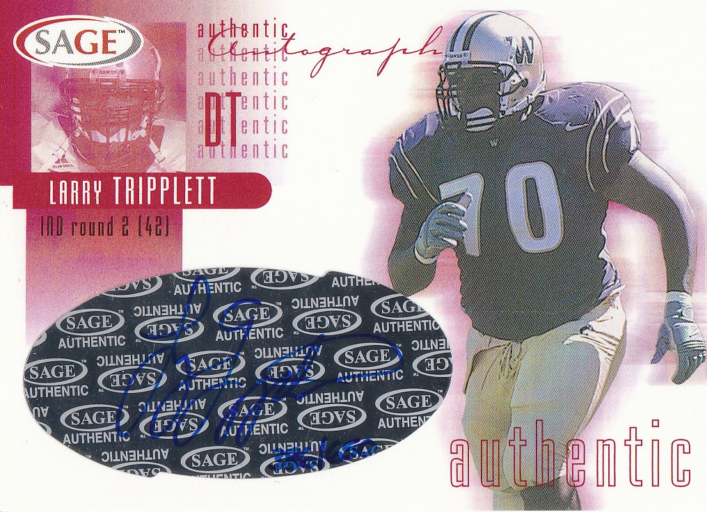 2002 SAGE Autographs Red #A42 Larry Tripplett/650