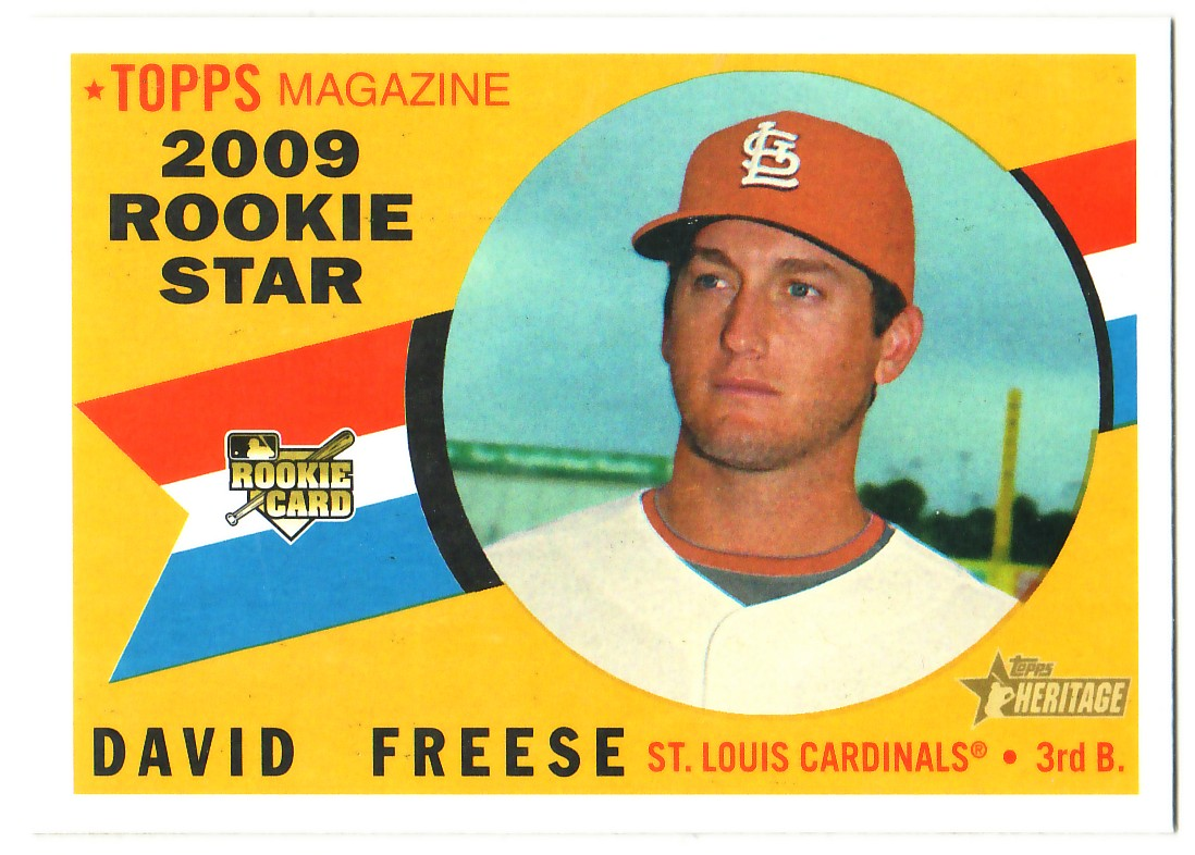 2009 Topps Heritage #555 David Freese RC