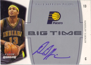 2004-05 Fleer Genuine Big Time Autographs #DH David Harrison