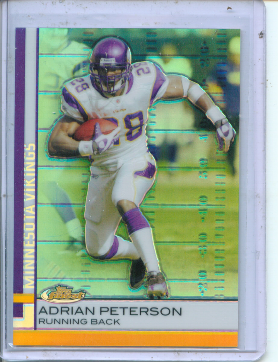 2009 Finest Green Refractors 199 #25 Adrian Peterson