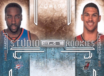2009-10 Rookies and Stars Studio Combo Rookies #7 James Harden/Jeff Pendergraph