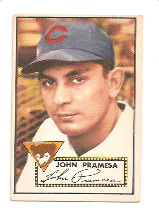 1952 Topps #105 Johnny Pramesa