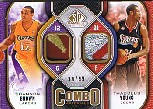 2009-10 SP Game Used Combo Patches #CPBY Thaddeus Young/Shannon Brown