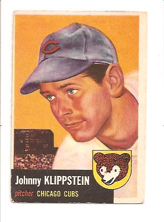 1953 Topps #46 Johnny Klippstein DP