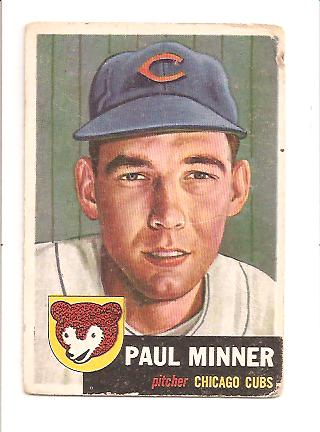 1953 Topps #92 Paul Minner DP