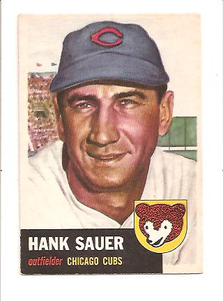 1953 Topps #111 Hank Sauer DP