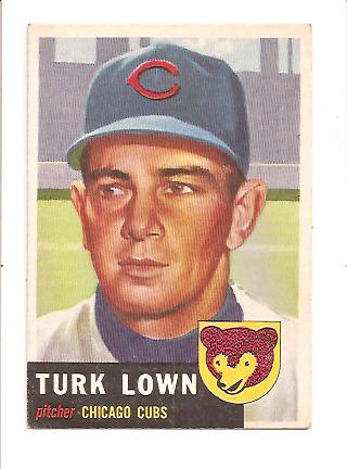 1953 Topps #130 Turk Lown DP