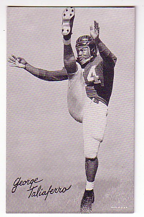 1948-52 Exhibit W468 Black and White #48 George Taliaferro DP
