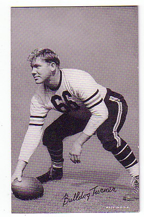 1948-52 Exhibit W468 Black and White #53 Bulldog Turner DP