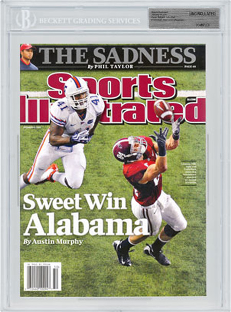 SPORTS ILLUSTRATED BGS SI Uncirculated Colin Peek Alabama front image