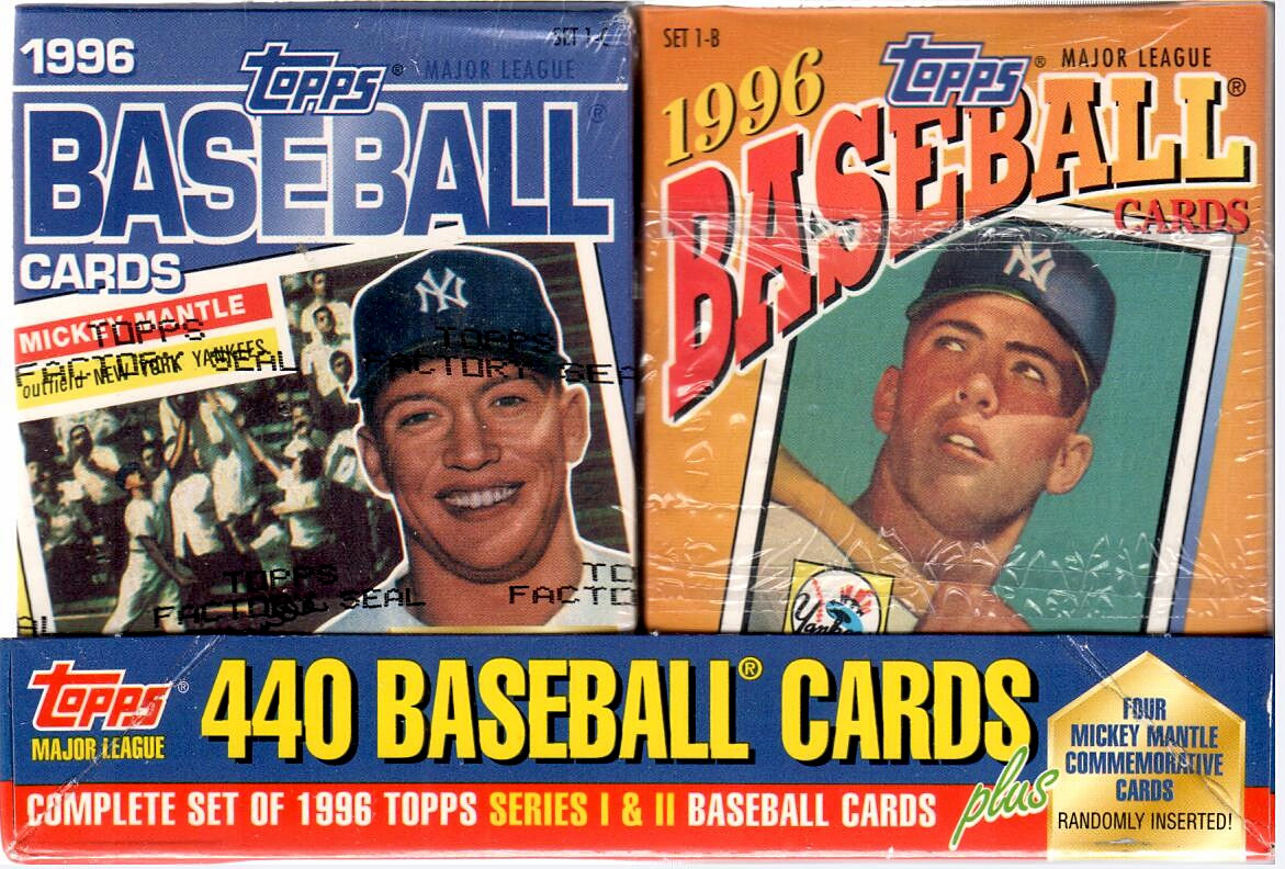 1996 TOPPS BASEBALL FACTORY SET - MANTLE CEREAL BOX