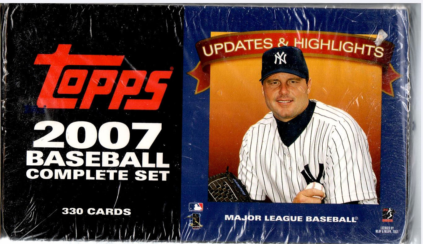 2007 TOPPS BASEBALL UPDATES & HIGHLITES FACTORY SET