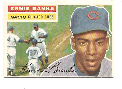 1956 Topps #15 Ernie Banks DP