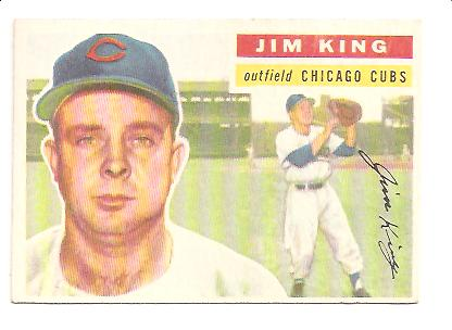 1956 Topps #74 Jim King RC