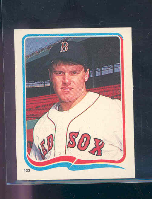 1985 Fleer Star Stickers #123 Roger Clemens