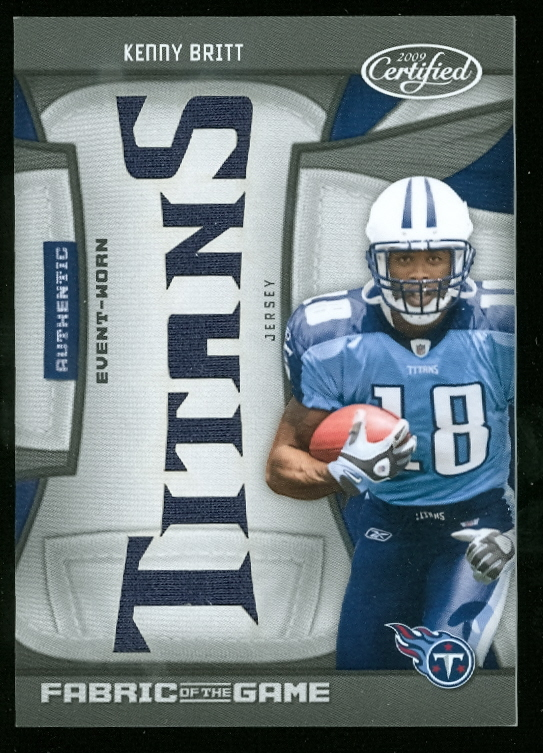 2009 Certified Rookie Fabric of the Game Team Die Cut #7 Kenny Britt