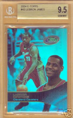 2003 eTopps #43 LeBron James/10000