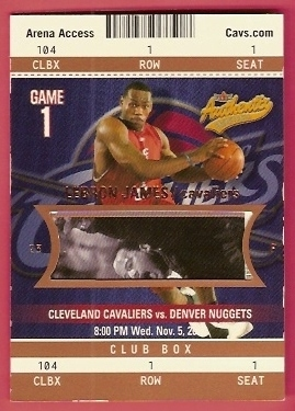 2003-04 Fleer Authentix Club Box #104 LeBron James