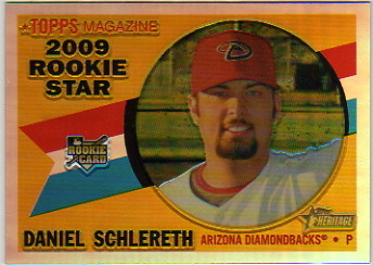 2009 Topps Heritage Chrome Refractors #CHR102 Daniel Schlereth