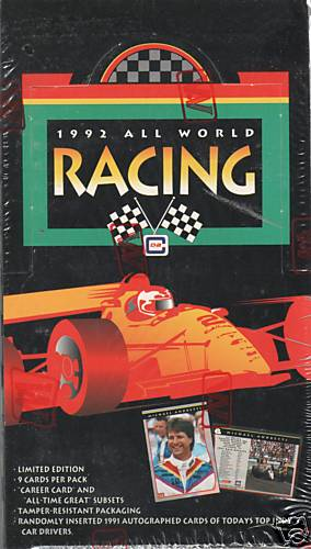 1992 All World Indy Racing Factory Sealed Unopened Box (36 Packs)