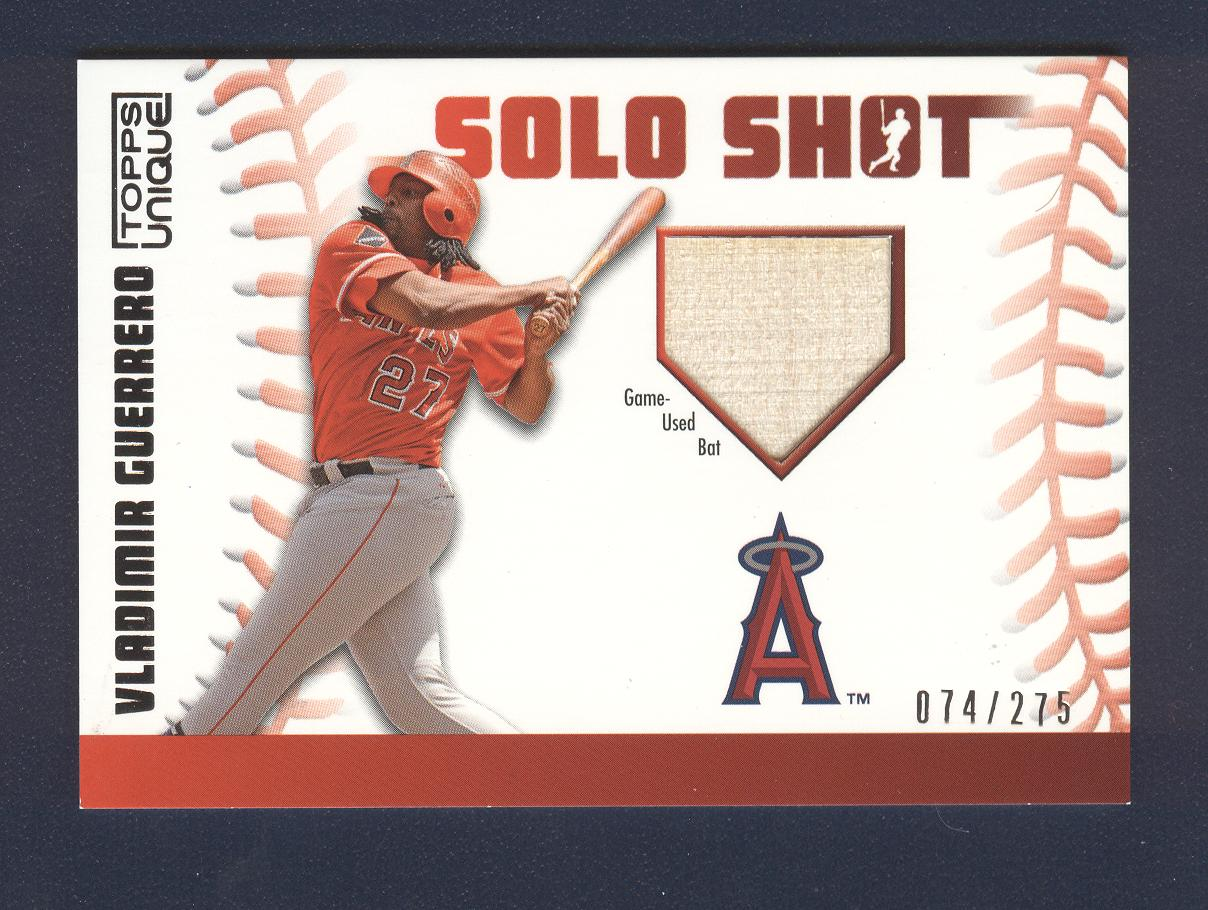 2009 Topps Unique Solo Shot Relics #VG Vladimir Guerrero