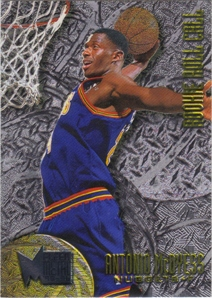 1995-96 Metal Rookie Roll Call Silver Spotlight #R2 Antonio McDyess