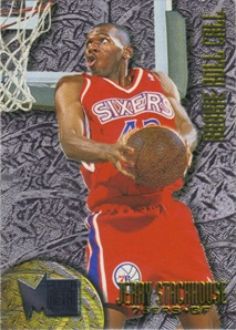 1995-96 Metal Rookie Roll Call Silver Spotlight #R8 Jerry Stackhouse