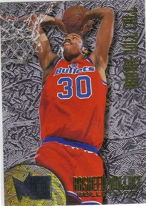 1995-96 Metal Rookie Roll Call Silver Spotlight #R10 Rasheed Wallace