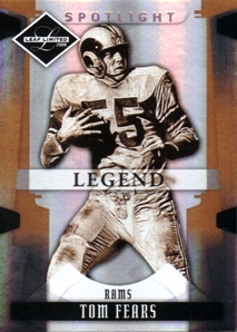 2008 Leaf Limited Bronze Spotlight #187 Tom Fears front image