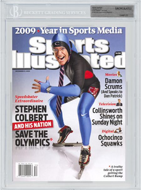 SPORTS ILLUSTRATED BGS SI Uncirculated Stephen Colbert Speed Skating