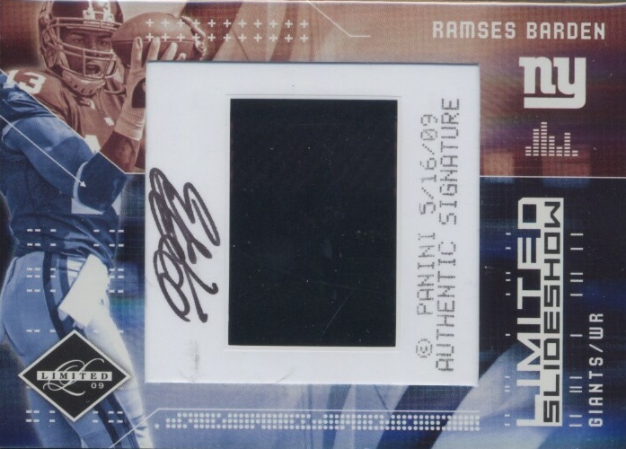 2009 Limited Slideshow Autographs #7 Ramses Barden