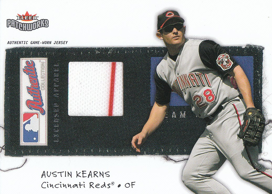 2004 Fleer Patchworks Licensed Apparel #AK Austin Kearns
