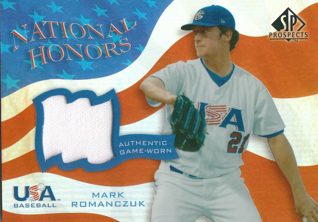 2004 SP Prospects National Honors USA Jersey #MR Mark Romanczuk