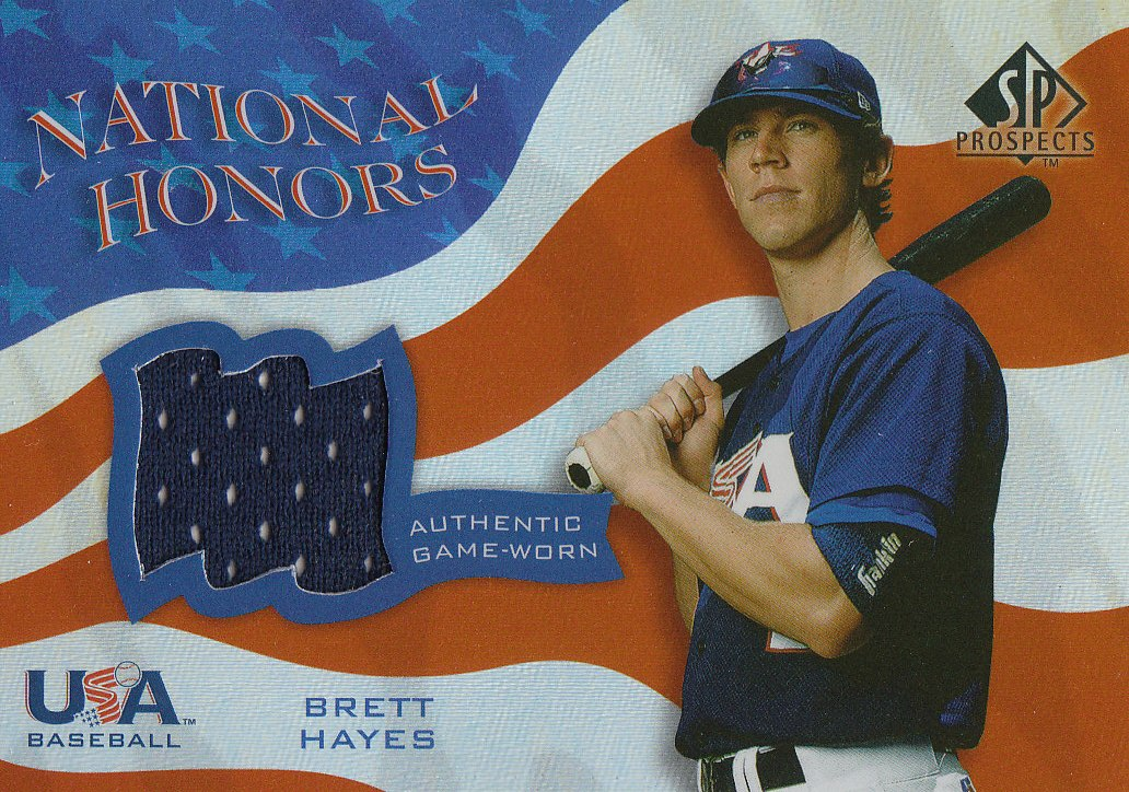 2004 SP Prospects National Honors USA Jersey #BH Brett Hayes