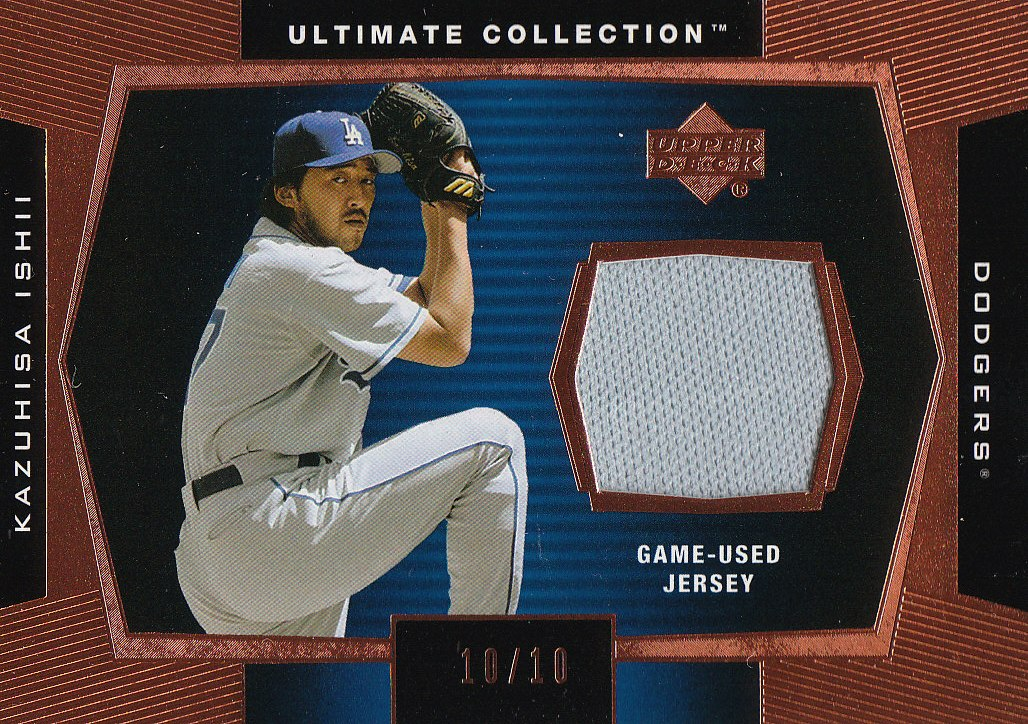 2003 Ultimate Collection Game Jersey Tier 1 Copper #KI Kazuhisa Ishii Arms Up