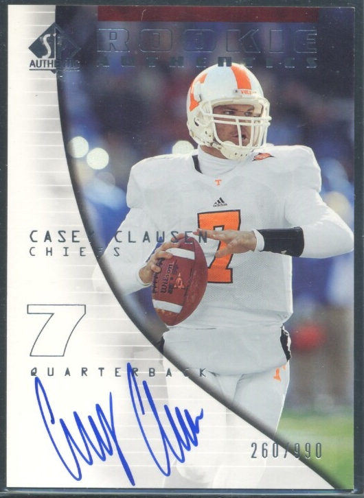 2004 SP Authentic #156 Casey Clausen AU RC