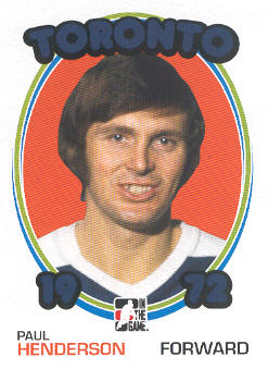 2009-10 ITG 1972 The Year In Hockey #25 Paul Henderson